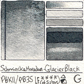 PBk11 PB35 Schmincke Professional Watercolor Glacier Black Granulating Special Edition