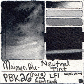 PBk26 Maimeri Blu Watercolor Swatch Neutral Tint rare spinel awesome database pigment hue color vibrant opaque