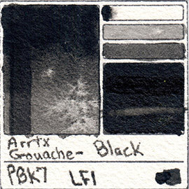PBk7 Arrtx Gouache Black Color Pigment Database Paint