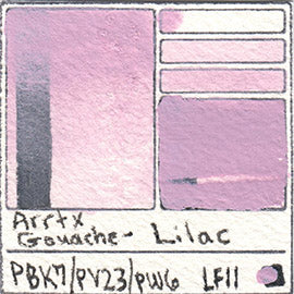 PBk7 PV23 PW6 Arrtx Gouache Lilac Color Pigment Database Paint