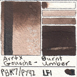 PBk7 PY42 Arrtx Gouache Burnt Umber Color Pigment Database Paint