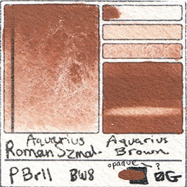 PBr11 Roman Szmal Aquarius Watercolor Aquarius Brown Color Swatch Granulating