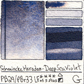 PB29 PBr33 Schmincke Professional Watercolor Deep Sea Violet Granulating Special Edition