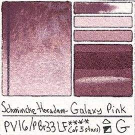 PV16 PBr33 Schmincke Professional Watercolor Galaxy Pink Granulating Special Edition