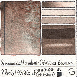 PBr6 PG26 Schmincke Professional Watercolor Glacier Brown Granulating Special Edition