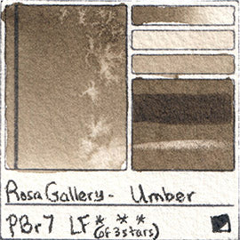 PBr7 Rosa Gallery Watercolor Umber Handprint Database Transparent Red Iron Oxide Pigment