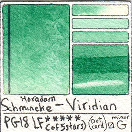 PG18 Schmincke Horadam Viridian Pigment Database Green Paint Swatch