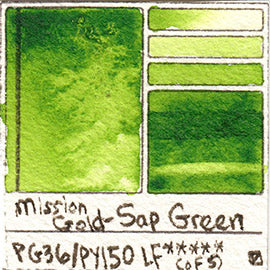 PG36 PY150 Mission Gold Watercolor Sap Green Art Pigment Database