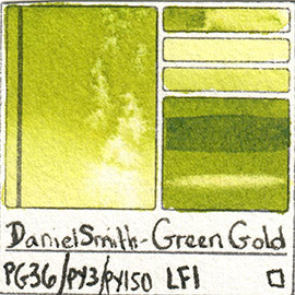 PG36 PY3 PY150 Daniel Smith Watercolor Green Gold Art Pigment Database