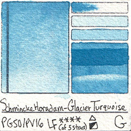 PG50 PV16 Schmincke Professional Watercolor Glacier Turquoise Granulating Special Edition