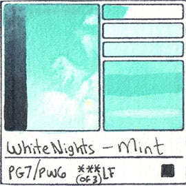 PG7 PW6 White Nights Watercolor Mint