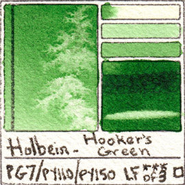 PG7 PY110 PY150 Holbein Watercolor Hooker's Green Art Pigment Database