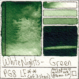 PG8 White Nights Watercolor Green Art Pigment Database