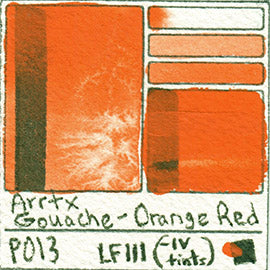 PO13 Arrtx Gouache Orange Red Color Pigment Database Paint