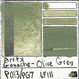 PO13 PG7 Arrtx Gouache Olive Grey Color Pigment Database Paint