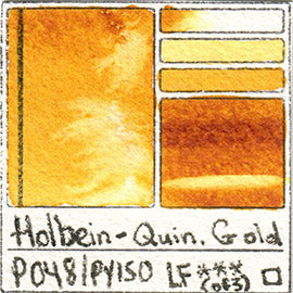 PO48 PY150 Holbein Watercolor Quinacridone Gold Art Pigment Database