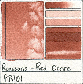 PR101 Renesans Watercolor Red Ochre Color Chart Poland Etsy alittlecreativeme
