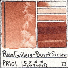PR101 Rosa Gallery Watercolor Burnt Sienna Transparent Red Iron Oxide Pigment