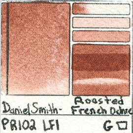 PR102 Daniel Smith Watercolor Roasted French Ochre Pigment Swatch Database Card