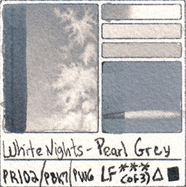 PR102 PBK7 PW6 WHITE NIGHTS PEARL GREY WATERCOLOR GRAY NEUTRAL PIGMENT SLATE