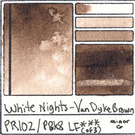 PR102 PBk8 White Nights Watercolor Van Dyke Brown