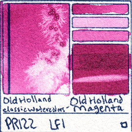 PR122 Old Holland Classic Watercolors Old Holland Magenta pigment swatch rare mineral paint art professional