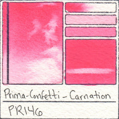 PR146 Prima Art Philosophy Confetti Carnation Watercolor Swatch Card Color Chart