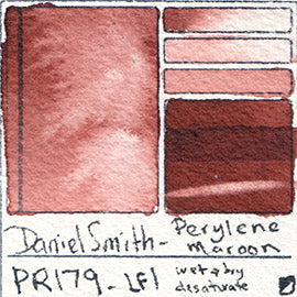 PBr25 Daniel Smith Watercolor Permanent Brown swatch pigment granulating vibrant