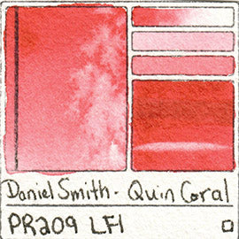 PR209 Daniel Smith Quinacridone Coral Watercolor Lightfast Pigment List Database