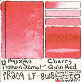 PR209 Roman Szmal Cherry Quin Red Aquarius Watercolor Professional Poland Swatch Color Chart