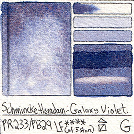 PR233 PB29 Schmincke Professional Watercolor Galaxy Violet Granulating Special Edition