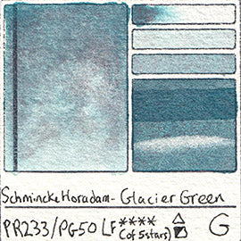 PR233 PG50 Schmincke Professional Watercolor Glacier Green Granulating Special Edition