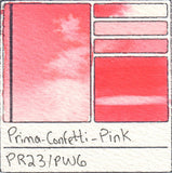 PR23 PW6 Prima Art Philosophy Confetti Pink Watercolor Swatch Card Color Chart