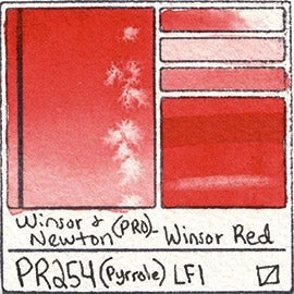 Winsor and Newton Winsor Red Watercolor Professional paint fire engine rose primary mixing