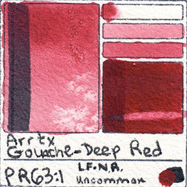 PR63:1 Arrtx Gouache Deep Red Color Pigment Database Paint