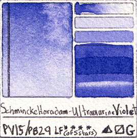 PV15 PB29 Schmincke Horadam Watercolor Ultramarine Violet Granulating Art Pigment Database