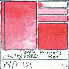 PV19 Liquitex Basics Acrylic Primary Red color separating granulating pigment shimmer metallic