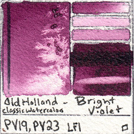 PV19 PV23 Old Holland Classic Watercolors Bright Violet pigment swatch rare mineral paint art professional