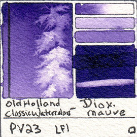 PV23 Old Holland Classic Watercolors Dioxazine Mauve pigment swatch rare mineral paint art professional