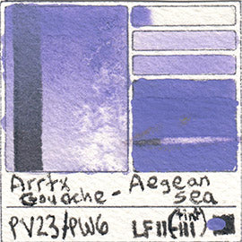 PV23 PW6 Arrtx Gouache Aegean Sea Color Pigment Database Paint
