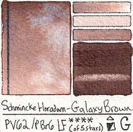 PV62 PBr6 Schmincke Professional Watercolor Galaxy Brown Granulating Special Edition