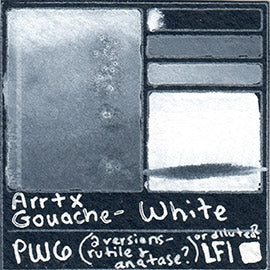 PW6 Arrtx Gouache White Color Pigment Database Paint