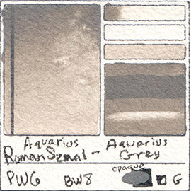 PW6 Roman Szmal Aquarius Watercolor Aquarius Grey Color Swatch Granulating