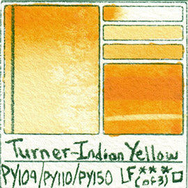 PY109 PY110 PY150 Turner Watercolor Indian Yellow Art Pigment Database