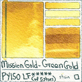PY150 Mission Gold Watercolor Green Gold Art Pigment Database