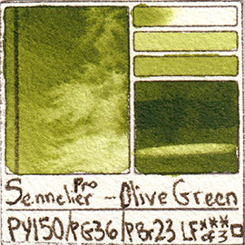 PY150 PG36 PBr23 Sennelier Pro Watercolor Olive Green Art Pigment Database