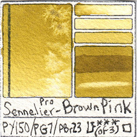 PY150 PG7 PBr23 Sennelier Pro Watercolor Brown Pink Art Pigment Database