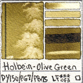 PY150 PG7 PBr25 Holbein Watercolor Olive Green Art Pigment Database