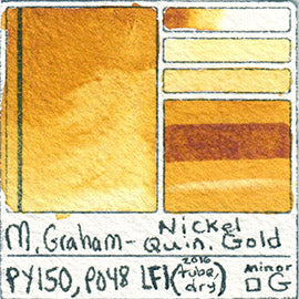 PY150 PO48 M Graham Watercolor Nickel Quinacridone Gold Art Pigment Database