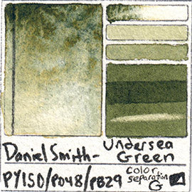 PY150 PO48 PB29 Daniel Smith Watercolor Undersea Green Art Pigment Database